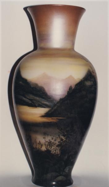 ваза с пейзажем обратная сторона