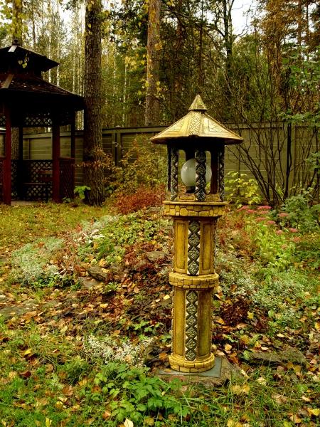Светильник садовый высокий