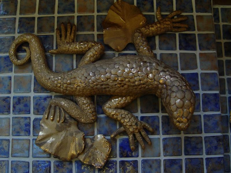 Ящерка керамика