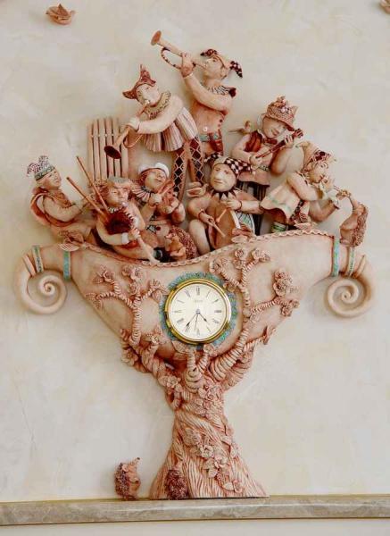 Часы музыканты