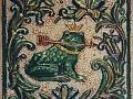 изразец лягушка
