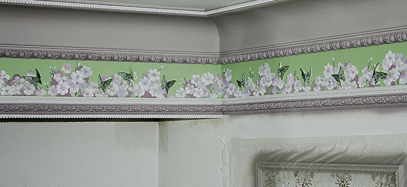 фриз бабочки
