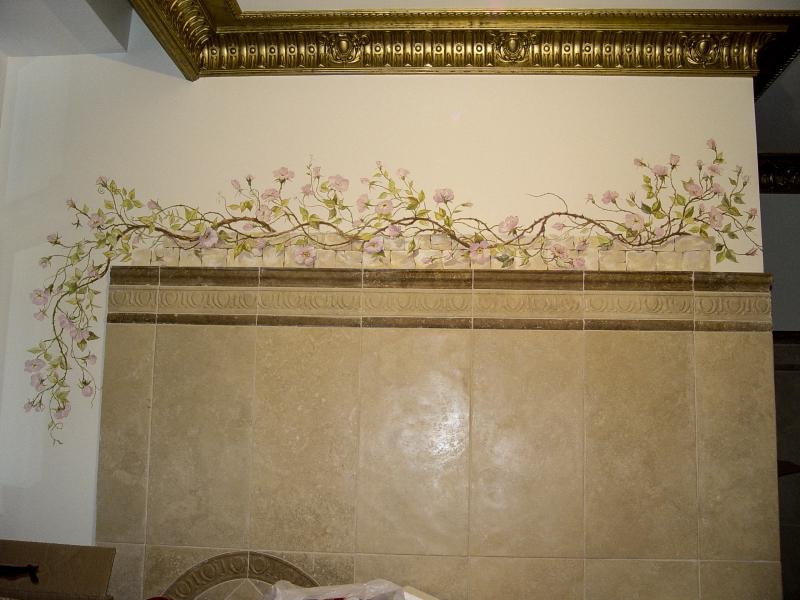 ванная розовый куст