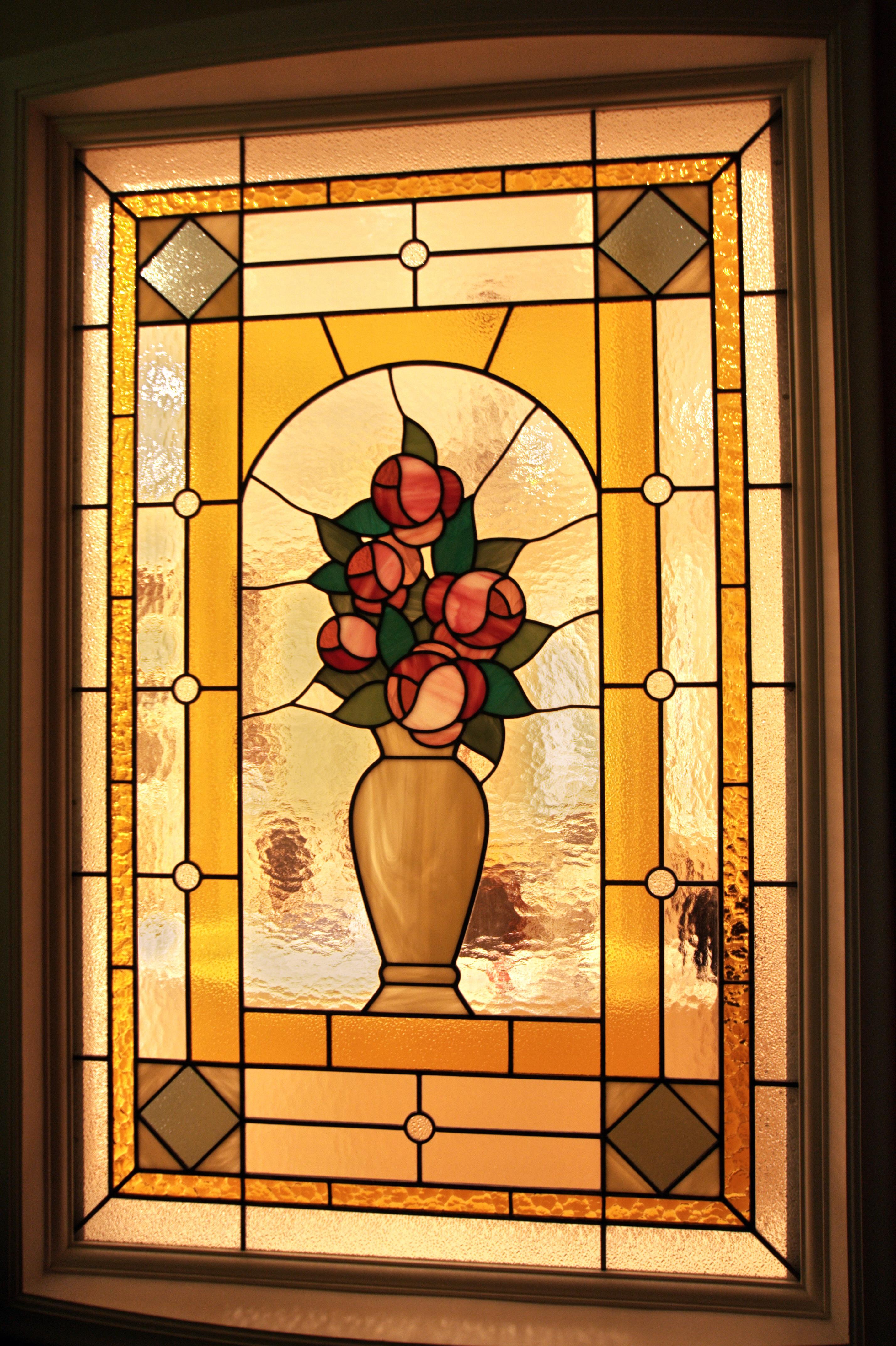 перегородка Розы в вазе