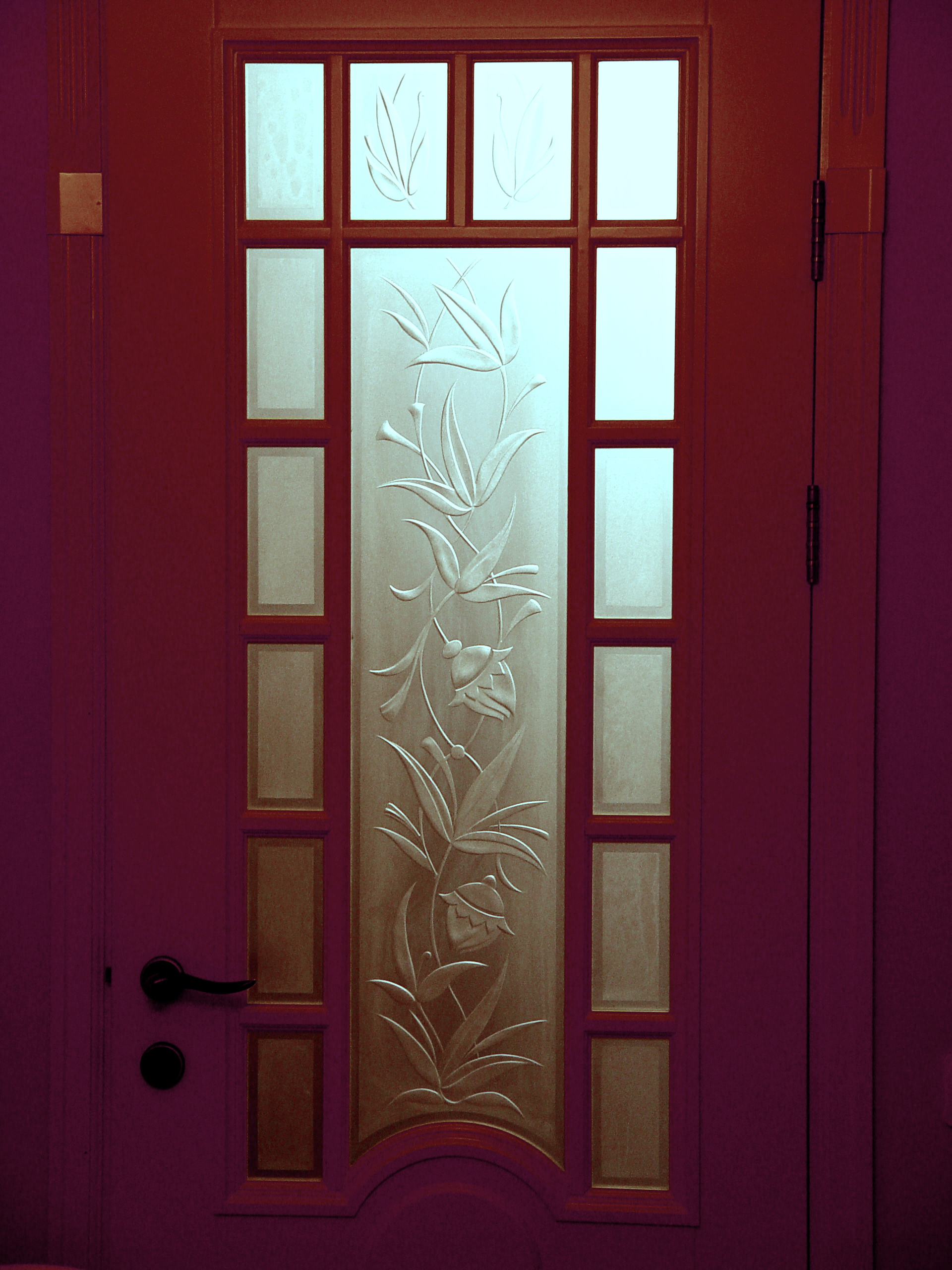 дверь Цветы